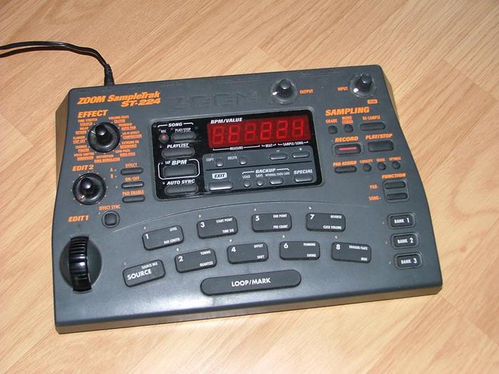 zoom sampletrak st 224 manual