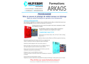 Programme formation Arkaos oliverdy