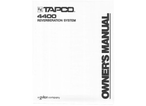 4400 Owners Manual