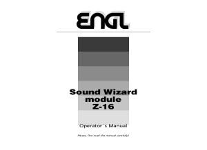 ENGL Z-16 Sound Wizard Modul Manual