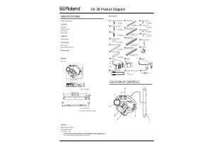 Roland GK-3B Dimensions et Accessoires fournis