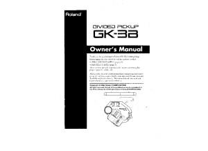 Roland GK-3B Manual