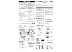Roland GK-KIT-BG3 Instruction Manual