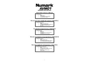 Notice Numark AVM01