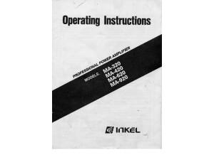 INKEL MA 320 420 620 920 Operating Instructions