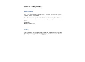 Sonimus SonEQ Pro, Mode d'emploi en français v1.0