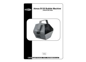 Atmos B120 Bubble Machine manuel