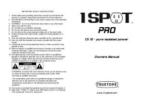 1 Spot Pro CS12 Manual