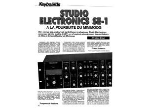 Test du SE-1 par le mag Keyboards