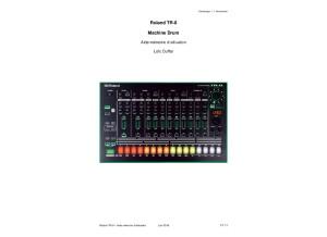 Roland TR 8   Aide Mémoire (LD)