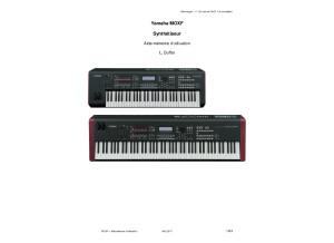 Yamaha MOXF   Aide mémoire (LD)