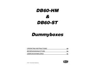 Koch Dummybox DB60-HM & DB60-ST Operating instructions