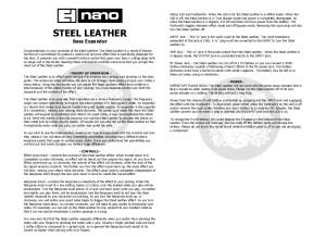 Steel Leather Manual