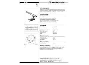 Sennheiser MD441 Data Sheet