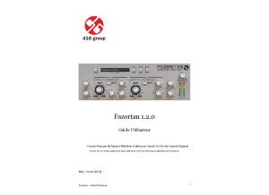 Fazortan 1.2.0 manual fr