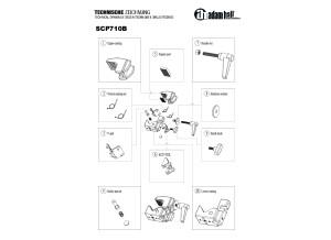 SCP710B AH HArdware Technische Zeichnung EN DE FR ES