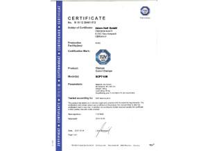 SCP710B AH Stands TÜV Zertifikat EN