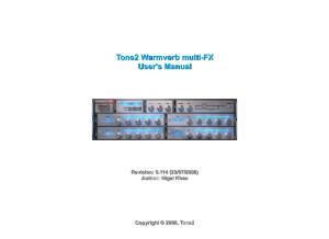 Tone2 Warmverb multi FX manual (EN)
