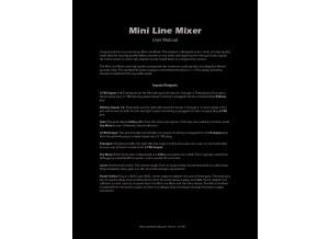 Mini Line Mixer manual