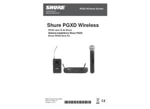 PGXD Series   Wireless Digital Microphones   Manuel FR