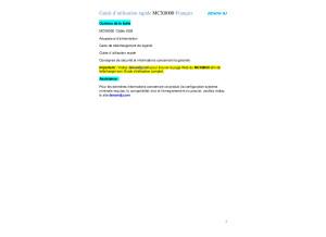 Guide Rapide Utilisatio Denon Dj MCX8000