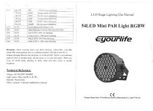 Eyourlife 54 led PAR RGBW