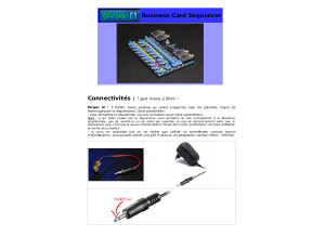business card mini sequencer user manual french