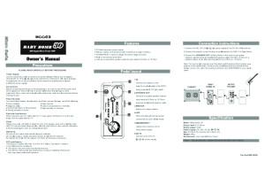 Mooer Baby Bomb 30 Manual