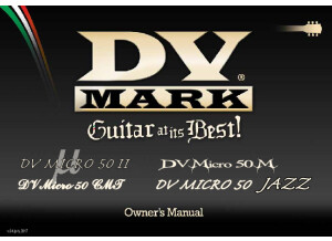 DV Mark DV Micro 50 II, DV Micro 50 M, DV Micro CMT, DV Micro 50 Jazz Manual