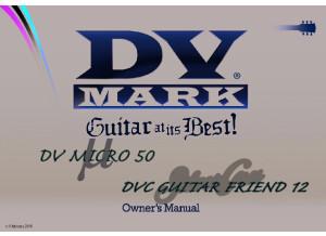 DV Mark DV Micro 50 / DVC Guitar Friend 12 Manual