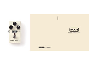 MXR M233 Micro Amp+ Manual