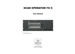 Scan Operator FX II Manual V1.5 English