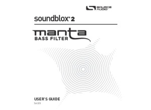 Source Audio Soundblox 2 Manta Bass Filter Manual