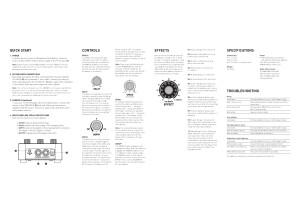 Source Audio Soundblox Tri-Mod Flanger Manual