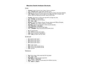 Maschine Studio Hardware Shortcuts