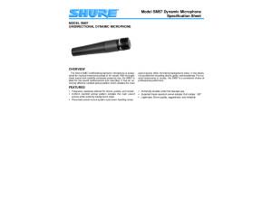 SM57 Spec Sheet (English)
