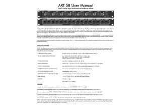 Art S8 User Manual