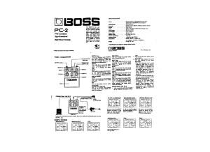 Boss PC-2 Instructions Manual