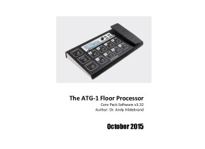 ATG-1 Floor Processor Manual v3.32