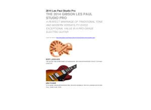 2014 Les Paul Studio Pro