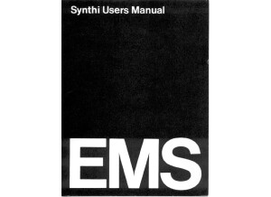 EMS Synthi UsersManual