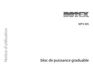 Botex Mpx 405 Notice d'Utilisation