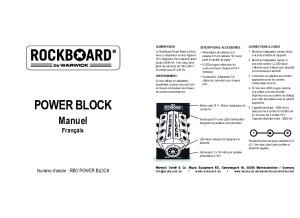 Rockboard Power Block (Mode d'emploi)