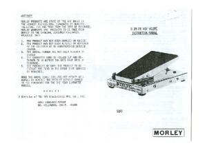 Morley Slimline Wah Volume Manual (page 1)