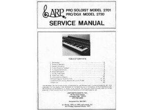 ARP Pro Soloist & Pro DGX Service Manual
