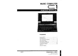 Yamaha C1 - Service Manual