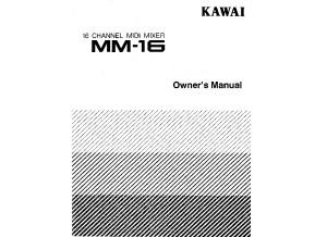 Kawai MM16 Owners Manual