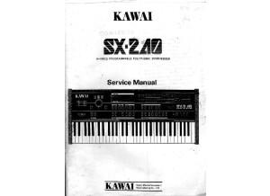 Kawai SX-240 Service Manual