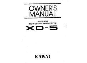 Kawai XD-5 Owners Manual