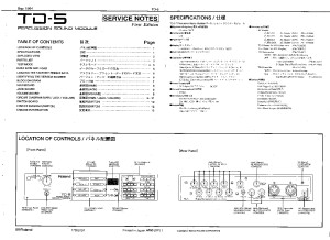 ROLAND_TD-5_SERVICE_NOTES